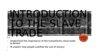Introduction to the slave trade