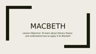 Macbeth and Literary Theory