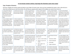 Edexcel iGCSE Chemistry 5 minute revision activities (Double award)