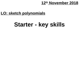 AS Sketching polynomial functions