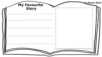 Book Review  (World Book Day) Book template Early Years KS1 Editable