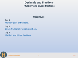 Multiply and divide fractions - Teaching Presentation - Year 6