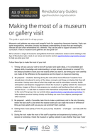 Making the most of a museum or gallery visit