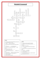 Challenging Macbeth Crossword - Quotes, themes, motifs