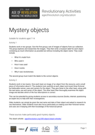 Mystery objects