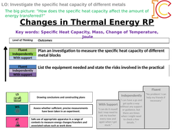 Energy 06- Changes of Thermal Energy (Specific Heat Capacity) Required Practical AQA New Physics 9-1