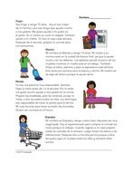 Los deberes Lectura: Spanish Reading on Chores (Quehaceres/tareas domésticas)