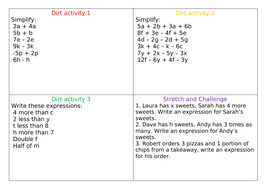 DIRT Activity for expressions
