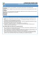 Literature Paper 1 & 2 Cheat Sheets