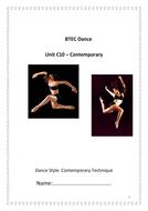 QCF - C10 - Contemporary Technique Student Booklet