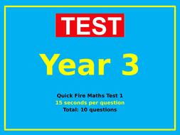 Year 3 Maths Tests