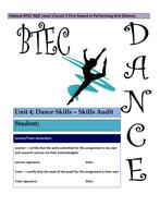 NQF - Unit 4 - Dance Skills
