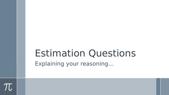 SATs Maths Reasoning Revision Powerpoints - Estimation, Mean Average, Translations and Rounding.