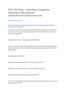 NSG 302 Week 1 Individual Assignment Information Baccalaureate Self-Reflection//tutorfortune.com