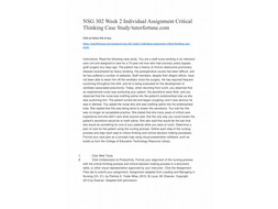 NSG 302 Week 2 Individual Assignment Critical Thinking Case Study/tutorfortune.com