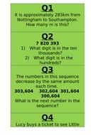 Year 6 SATs maths revision - Reasoning Treasure hunt