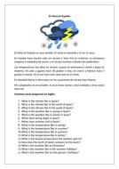 El clima en España / Climate in Spain / Weather in Spain