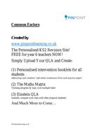KS2 Common Factors Problems