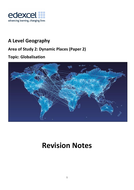 A Level Geography Edexcel - Globalisation Revision Notes