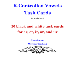 20 R-Controlled Vowels Task Cards