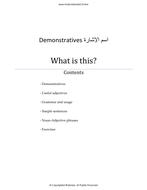 Arabic GCSE 9-1 Foundation Tier: Demonstratives