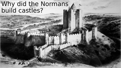 Why did the Normans build castles?