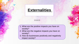 Externalities: A Level Economics