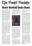 Year 6 Collection of Modelled Newspaper Report Examples BEOWULF