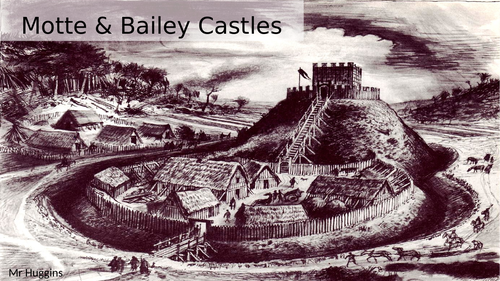 Why did the Normans build Motte & Bailey Castles?