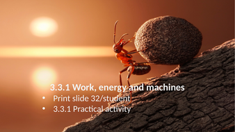 KS3 AQA Activate 3.3.1 Work, energy, and machines