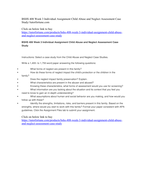 BSHS 408 Week 3 Individual Assignment Child Abuse and
