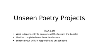 gcse unseen poetry by tess247 teaching resources. Black Bedroom Furniture Sets. Home Design Ideas