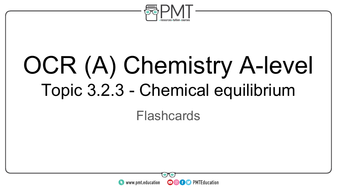 OCR A-Level Chemistry Flashcards by PMTEducation | Teaching