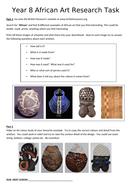 KS3 - Art and Design - African Art - 1 TERM PROJECT