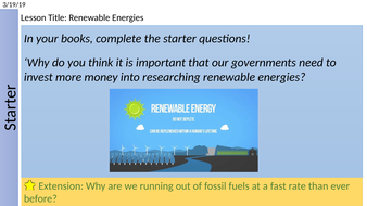 Renewable Energy Resources by mward93 - Teaching Resources - Tes