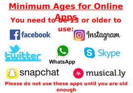 Minimum Age Computing software social media Posters to promote e