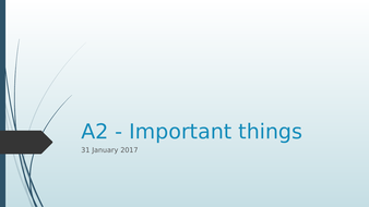A2---Important-things.pptx