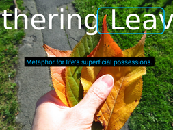 'Gathering Leaves' by Robert Frost. PowerPoint for CCEA GCE
