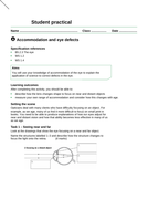 AQA new specification-B10.6-Common eye problems worksheet