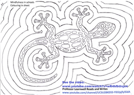 Mindfulness in school curriculum colouring in sheet
