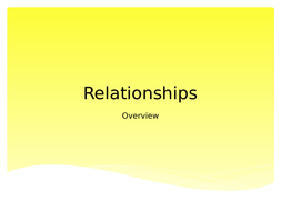 Brief overview lesson on Relationships