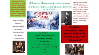 Christmas carol context poster/worksheet/revision sheet | Teaching Resources