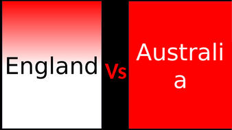 England vs Australia , geography , compare differences
