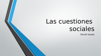 Spanish GCSE Social issues