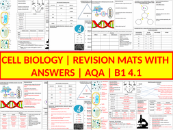 B1 Revision Mats |  4.1 Cell Biology | AQA | With Answers