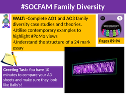 sociology socfam families lesson  and  family diversity and   lesson  socfam family diversitypptx