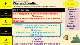 War and Conflict poetry
