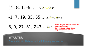 GCSE 9-1 Maths Geometric Sequences and Exponential Functions