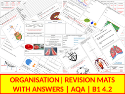 B1 Revision Mats | 4.2 Organisation | AQA | With Answers