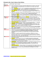 OCR A Level Rs Philosophy- ALL essay plans for the Problem of Evil